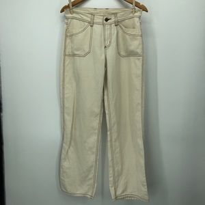 Patagonia contrast stitching wide leg pants